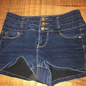 Blue Spice Jean Shorts